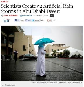 sweden Artificial rain