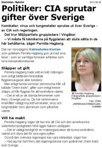 sweden Chemtrails